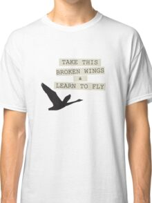 The Beatles Blackbird Song Lyrics 60s Rock Music Paul McCartney Classic T-Shirt