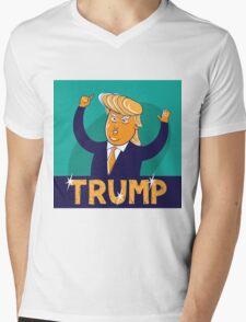cartoon of USA Republican presidential candidate Donald Trump Mens V-Neck T-Shirt