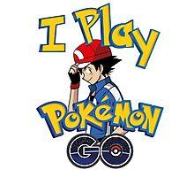I play pokemon go! Photographic Print