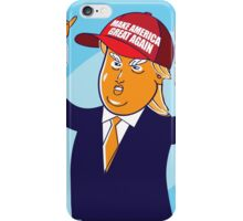 cartoon of USA Republican presidential candidate Donald Trump iPhone Case/Skin