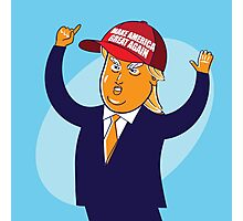 cartoon of USA Republican presidential candidate Donald Trump Photographic Print