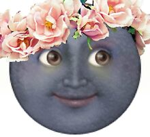Hipster Moon Emoji by ThoseFandomss