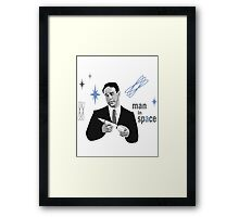 Man in Space Framed Print