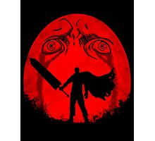 Black Swordsman Under a Red Moon Photographic Print