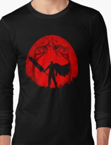 Black Swordsman Under a Red Moon Long Sleeve T-Shirt