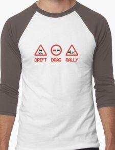 Drift Drag Rally (3) Men's Baseball ¾ T-Shirt