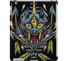 Trippy brutal cat drawing art iPad Case/Skin
