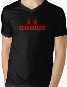 Stagehand red Mens V-Neck T-Shirt