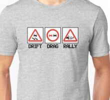 Drift Drag Rally (2) Unisex T-Shirt