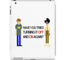 Have You Tried Turning It Off and On Again? - Black Font iPad Case/Skin