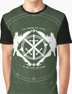 Strength of the Wolf [White on Green] Graphic T-Shirt