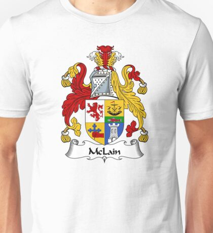 McLain Coat of Arms / McLain Family Crest Unisex T-Shirt
