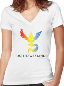 Pokemon GO - United We Stand Women's Fitted V-Neck T-Shirt