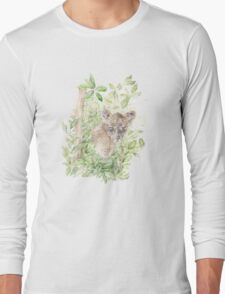 Baby Leopard Cub in the Jungle  Long Sleeve T-Shirt