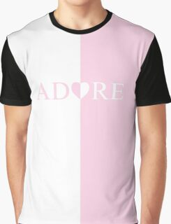 Unique ADORE HEART design  Graphic T-Shirt