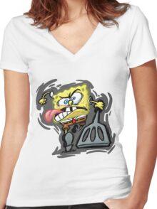 spongebob Women's Fitted V-Neck T-Shirt