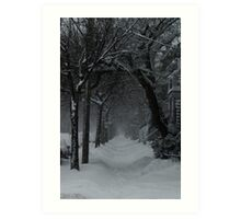 Winter Scene in Montreal Art Print