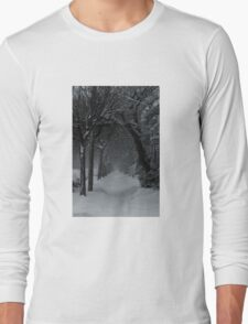 Winter Scene in Montreal Long Sleeve T-Shirt