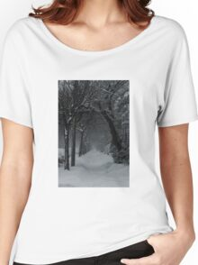 Winter Scene in Montreal Women's Relaxed Fit T-Shirt