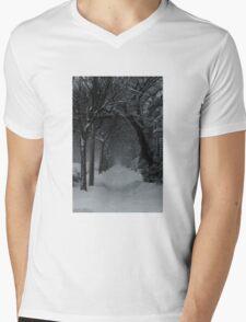 Winter Scene in Montreal Mens V-Neck T-Shirt