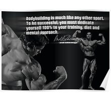 Bodybuilding Is Much Like Any Other Sport Poster