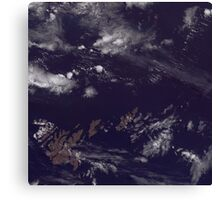 Faroe Islands Denmark Satellite Image Canvas Print