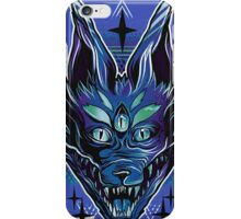 Trippy wolf brutal drawing art iPhone Case/Skin