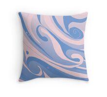 Original pastel waves design Throw Pillow