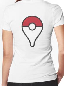 POKE STOP Women's Fitted V-Neck T-Shirt