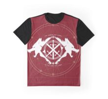 Strength of the Wolf [White on Red] Graphic T-Shirt