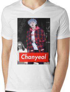 Chanyeol Mens V-Neck T-Shirt
