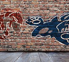Groudon and Kyogre Graffiti by TheWangMeister