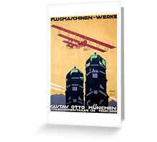 German Airplane Factory Advertisement Greeting Card