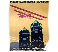 German Airplane Factory Advertisement Poster