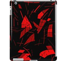 Black and red abstraction iPad Case/Skin
