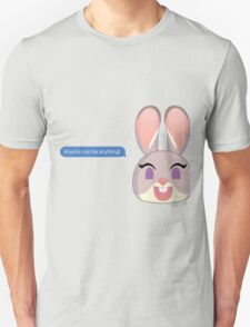 Anyone Can Be Anything Judy Hopps Unisex T-Shirt