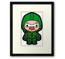 The arrow green archer superhero Framed Print