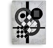 Which Way is Up - Black and White Canvas Print