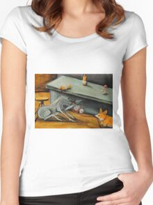 Donkey~Pemroke Welsh Corgi~Dog Drags Jackass out of Bar~Beer Women's Fitted Scoop T-Shirt