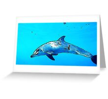Dolphin in the sea Greeting Card