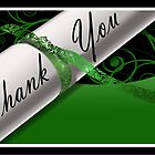 Green & White Diploma Thank You Card by treasured-gift
