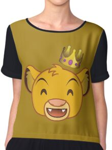 I Just Can't Wait to be King Chiffon Top