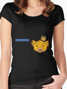 I Just Can't Wait to be King Women's Fitted Scoop T-Shirt