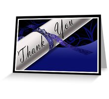Blue & White Diploma Thank You Card Greeting Card