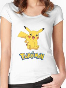 Pikachu! Women's Fitted Scoop T-Shirt