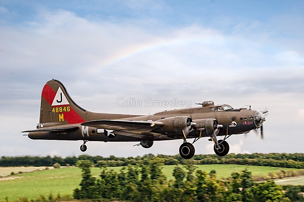 """Boeing B-17G Fortress II F-AZDX """"Pink Lady"""" by Colin Smedley"""
