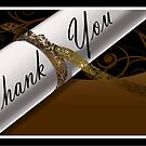 Brown & White Diploma Thank You Card by treasured-gift