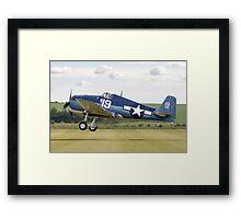 Grumman F6F-5K Hellcat 80141/19 G-BTCC Framed Print