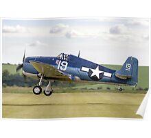 Grumman F6F-5K Hellcat 80141/19 G-BTCC Poster