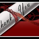 Red & White Diploma Thank You Card by treasured-gift